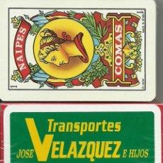 Barajas de cartas: TRANSPORTES JOSE VELAZQUEZ - BARAJA ESPAÑOLA 40 CARTAS. Lote 222192417
