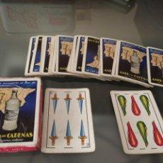 Barajas de cartas: ANTIGUA BARAJA ESPAÑOLA PUBLICIDAD ANÍS LAS CADENAS COMPLETA. Lote 222225475