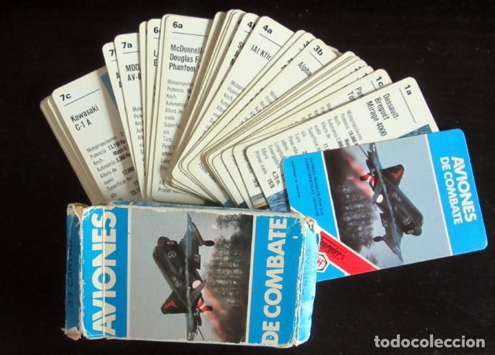 BARAJA NAIPES AVIONES DE COMBATE. 33 CARTAS, COMPLETA. HERACLIO FOURNIER, AÑO 1984 (Juguetes y Juegos - Cartas y Naipes - Barajas Infantiles)