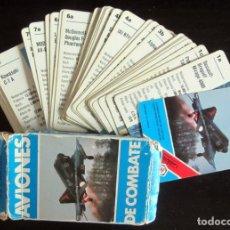 Barajas de cartas: BARAJA NAIPES AVIONES DE COMBATE. 33 CARTAS, COMPLETA. HERACLIO FOURNIER, AÑO 1984. Lote 222229378