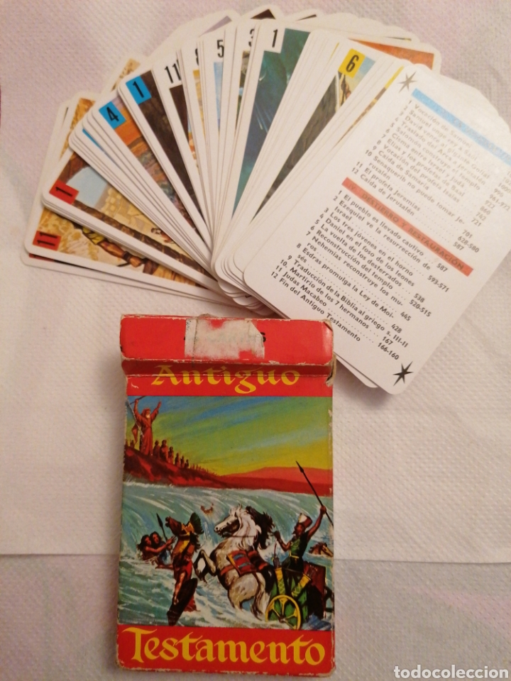 CARTAS ANTIGUO TESTAMENTO 1969 (Juguetes y Juegos - Cartas y Naipes - Barajas Infantiles)