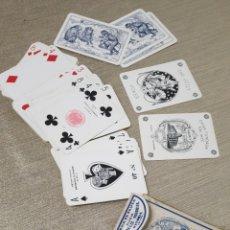 Barajas de cartas: NAIPES HIJOS HERACLIO FOURNIER POKER FIBRA MARFIL COMPLETA CON TIMBRE DEL ESTADO DOS PESETAS. Lote 222269545