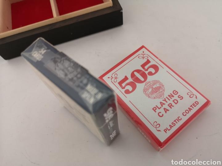 Barajas de cartas: Caja madera con juego de naipes - Foto 3 - 222350453