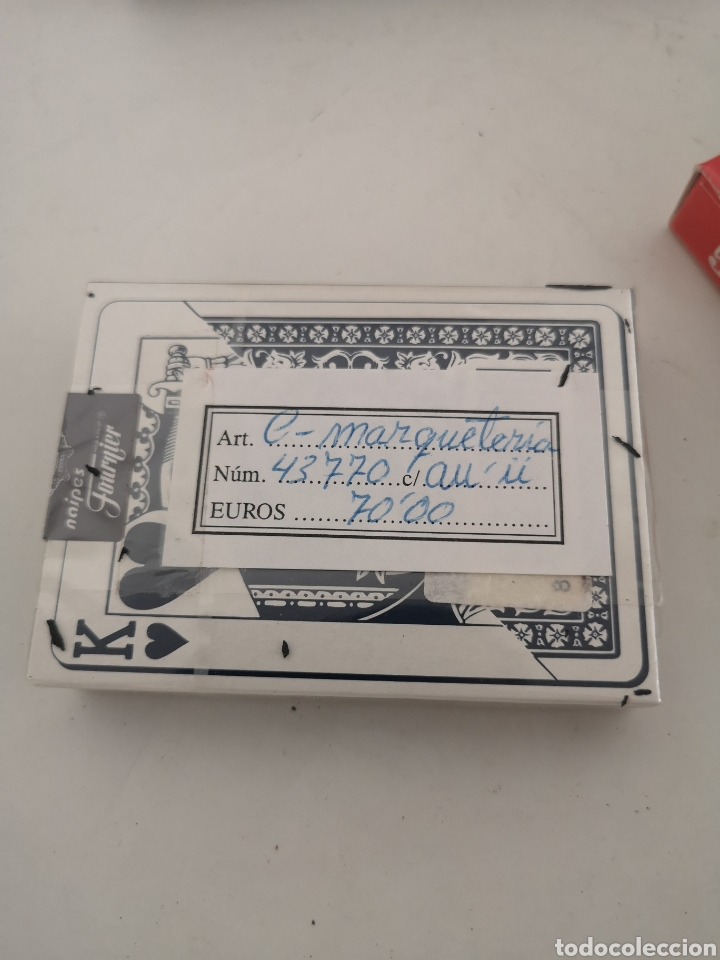 Barajas de cartas: Caja madera con juego de naipes - Foto 4 - 222350453