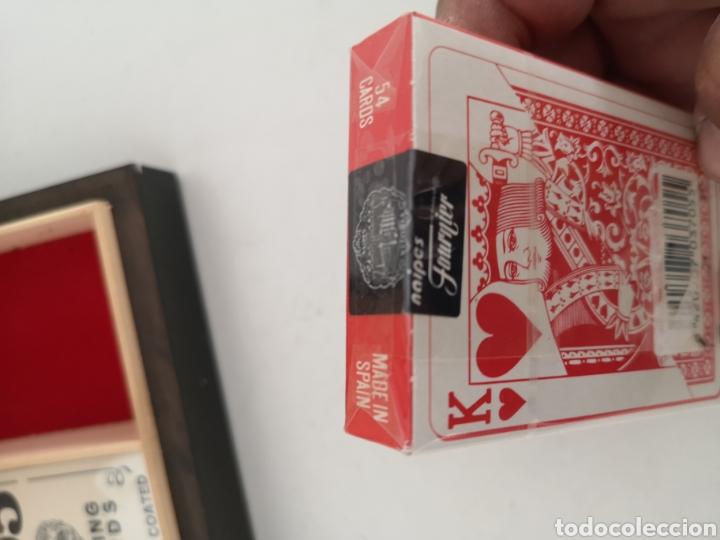 Barajas de cartas: Caja madera con juego de naipes - Foto 5 - 222350453
