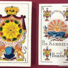 Jeux de cartes: MAGNÍFICA BARAJA DE NAIPES DE RAMÍREZ Y COMPAÑÍA. S.XIX. SIN USO.. Lote 222354908