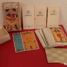 Barajas de cartas: BARAJA DE CARTAS NAIPES TAROT EL VERDADERO DE MARSEILLE HF HERACLIO FOURNIER MARITXU GULER 1983 COMP. Lote 222367822