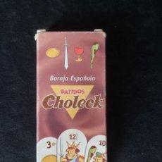 Barajas de cartas: BARAJA DE CARTAS BATIDOS CHOLECK. Lote 222484243