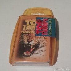 Barajas de cartas: BARAJA INFANTIL TOP TRUMPS ANIMALES SALVAJES PRECINTADO SIN ABRIR. Lote 222498075