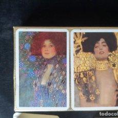 Barajas de cartas: 2 BARAJA PIATNIK MUSEO ARTE MODERNO NEW YORK GUSTAV KLIMT. Lote 222512296