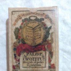 Barajas de cartas: REPRODUCCIÓN BARAJA DE CARTAS DE LA CONSTITUCIÓN DE CÁDIZ 1822. Lote 222537833