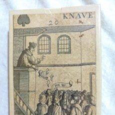 Barajas de cartas: BARAJA DE CARTAS KNAVE , REVOLUCIÓN INGLESA 1689. Lote 222541136