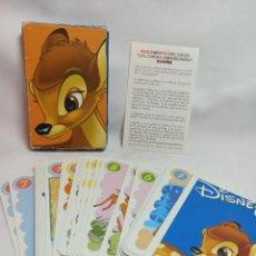 Barajas de cartas: BARAJA DE CARTAS BAMBI Y COMPLETA. Lote 222867546