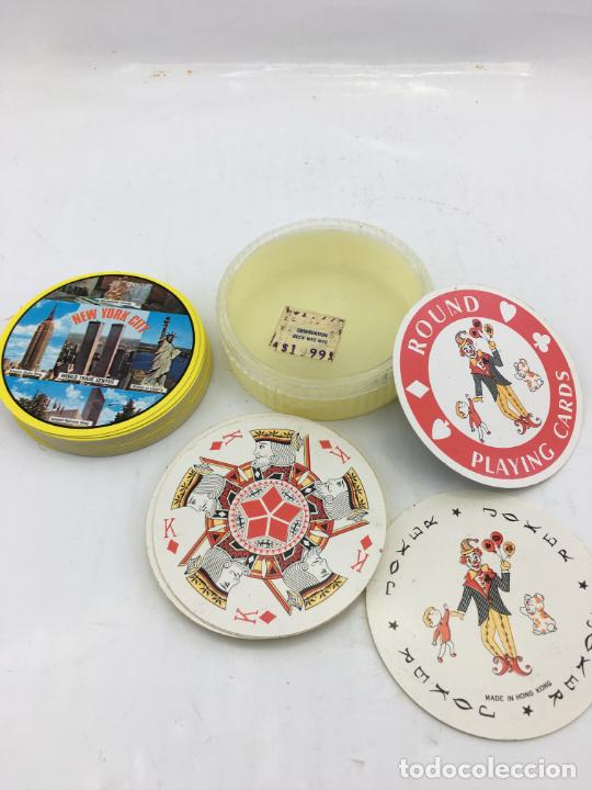BARAJA DE CARTAS DE POKER REDONDAS - ROUND PLAYING CARDS - RECUERDO DE NEW YORK CITY (Juguetes y Juegos - Cartas y Naipes - Barajas de Póker)