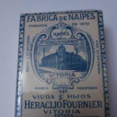Barajas de cartas: BARAJA HERACLIO FOURNIER VITORIA BOSQUE 33 AZUL PRINCIPIOS SIGLO XX DE 74 CARTAS.. Lote 223332207