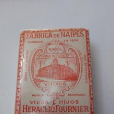 Barajas de cartas: BARAJA HERACLIO FOURNIER VITORIA RUEDA 33 ROJO PRINCIPIOS SIGLO XX DE 75 CARTAS. Lote 223345117