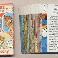 Barajas de cartas: BARAJA JUEGO INFANTIL 101 DÁLMATAS Y LOS ARISTOGATOS, BAMBI EL PATITO FEO. 33 CARTAS. HERACLIO FOURN. Lote 223397537