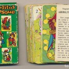 Barajas de cartas: BARAJA JUEGO INFANTIL ANIMALITOS EN EL BOSQUE. 33 CARTAS. A. SALDAÑA 1976. Lote 223397542