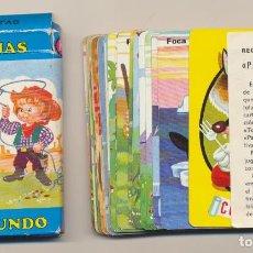 Barajas de cartas: BARAJA JUEGO INFANTIL PAREJAS DEL MUNDO. 33 CARTAS. HERACLIO FOURNIER 1972. Lote 223397547