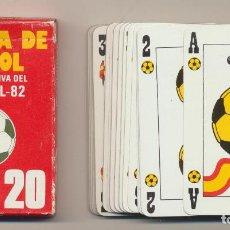 Jeux de cartes: BARAJA DE FUTBOL. CONMEMORATIVA DEL MUNDIAL 82. 54 CARTAS. HERÁLDICA CASTANYER 1981. Lote 223397560