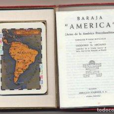 Jeux de cartes: AMÉRICA PLAYING CARDS. ARTS OF PRE-COLUMBIAN AMÉRICA. HERACLIO FOURNIER 1960. Lote 223398047
