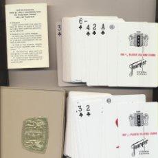Barajas de cartas: 100 % PLASTIC PLAYING CARDS. ESTUCHE CON DOS BARAJAS DE PLÁSTICO. HERACLIO FOURNIER. Lote 223398062