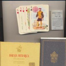 Jeux de cartes: BARAJA HISTÓRICA DESCUBRIDORES Y COLONIZADORES DE AMÉRICA. HERACLIO FOURNIER. Lote 223398136