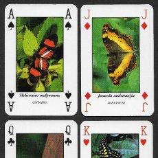 Barajas de cartas: BARAJA FRANCESA DE MARIPOSAS. Lote 223631772
