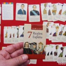 Barajas de cartas: BARAJA. 7 FAMILIAS REALES DE ESPAÑA. AÑO: 2014. BUEN ESTADO. ÚNICA EN TC. MUY RARA.. Lote 223672527