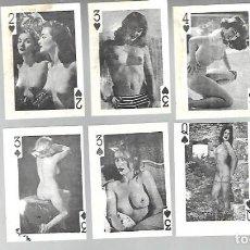 Barajas de cartas: ANTIGUA BARAJA MINI ERÓTICA. 3,8 X 5,3 CM. SIN USAR.. Lote 223732623