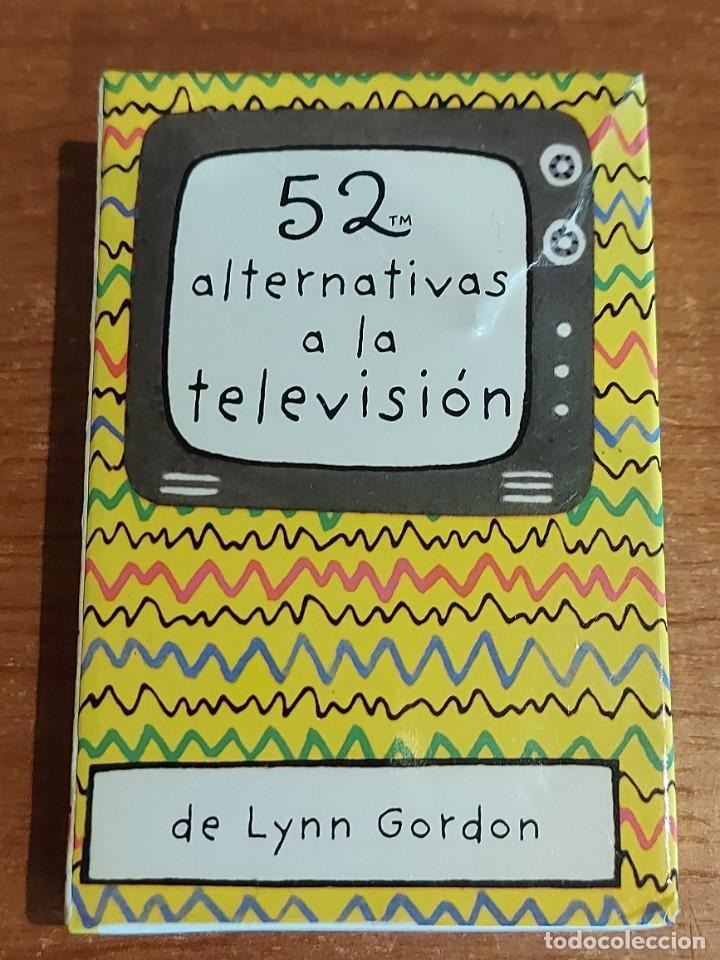 Barajas de cartas: BARAJA 52 ALTERNATIVAS A LA TELEVISIÓN / DE LYNN GORDON / COMPLETA EN CAJA ORIGINAL / INSTRUCCIONES. - Foto 3 - 223847925