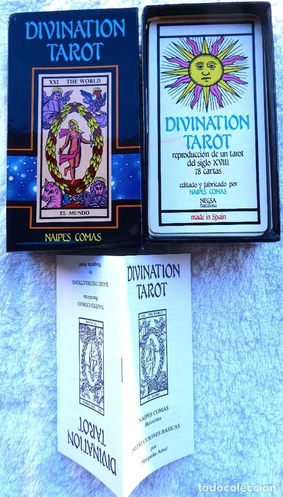 Barajas de cartas: BAR-2. DIVINATION TAROT. REPRODUCCIÓN TAROT SIGLO XVIII. 78 CARTAS. NUEVAS. POR ESTRENAR. - Foto 2 - 223870756