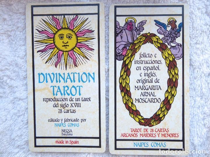 Barajas de cartas: BAR-2. DIVINATION TAROT. REPRODUCCIÓN TAROT SIGLO XVIII. 78 CARTAS. NUEVAS. POR ESTRENAR. - Foto 3 - 223870756