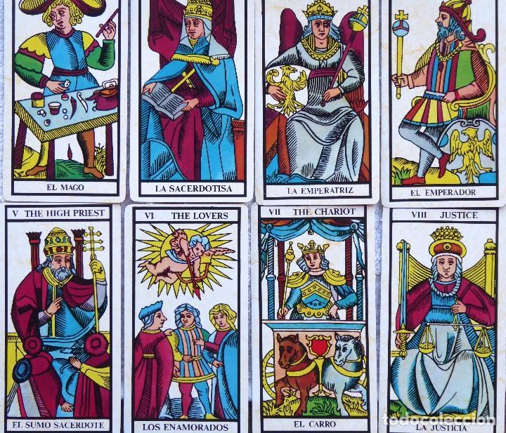 Barajas de cartas: BAR-2. DIVINATION TAROT. REPRODUCCIÓN TAROT SIGLO XVIII. 78 CARTAS. NUEVAS. POR ESTRENAR. - Foto 7 - 223870756