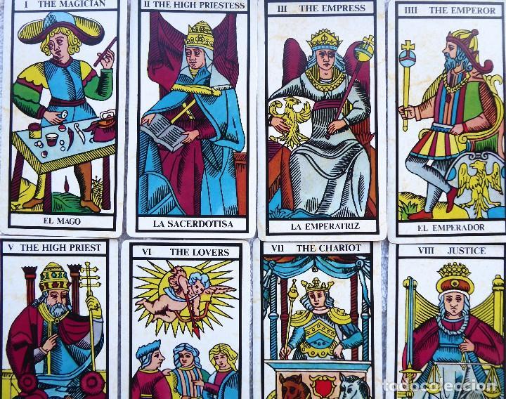 Barajas de cartas: BAR-2. DIVINATION TAROT. REPRODUCCIÓN TAROT SIGLO XVIII. 78 CARTAS. NUEVAS. POR ESTRENAR. - Foto 8 - 223870756