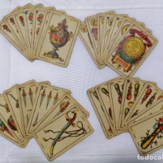 Barajas de cartas: ANTIGUA BARAJA DE CARTAS, ESPECIAL PARA BEZIQUE, SIMEON DURA - VALENCIA, 28 CARTAS. Lote 223985555