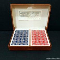 Jeux de cartes: ESTUCHE COMPLETO HOUGHTON HISPANIA CON DOS BARAJAS NAIPES FOURNIER DE EDICIÓN LIMITADA. Lote 224007661