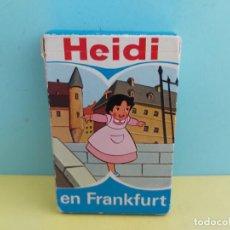 Mazzi di carte: ANTIGUA BARAJA DE CARTAS FOURNIER HEIDI EN FRANKFURT. Lote 224144452