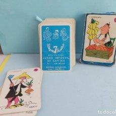 Jeux de cartes: ANTIGUA BARAJA EDITORIAL ZARAGOZANO EL JUEGO DE LAS FAMILIAS COMPLETA. Lote 224170630