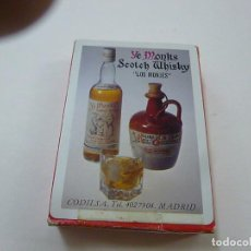 Barajas de cartas: BARAJA DE NAIPES FOURNIER PUBLICIDAD DE YE MONKS SCOTCH WHISKY -N. Lote 224295320