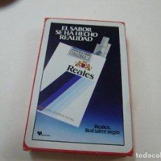 Barajas de cartas: BARAJA DE NAIPES FOURNIER PUBLICIDAD DE CIGARRILLOS REALES-N. Lote 224296068