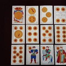 Barajas de cartas: JUEGO COMPLETO DE 48 NAIPES - SEGUNDO OLEA - CADIZ - AÑO 1881 -. Lote 224595688