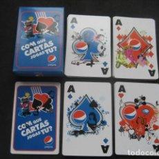 Barajas de cartas: RARA BARAJA POKER PUBLICIDAD PEPSI - PEPSICOLA. Lote 224606793