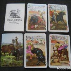 Barajas de cartas: BARAJA POKER FOURNIER TAURINA. DIBUJOS ANTONIO CASERO. Lote 224606887