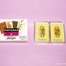 Barajas de cartas: BARAJAS CANASTA MINIATURA 2X55 NAIPES PATIENCE BAROCK DE H. FOURNIER - AÑO 1980S.. Lote 224721565