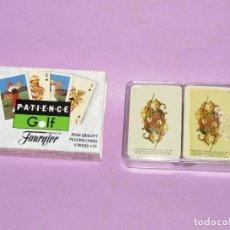 Barajas de cartas: BARAJAS CANASTA MINIATURA 2X55 NAIPES PATIENCE GOLF DE H. FOURNIER - AÑO 1980S.. Lote 224722237