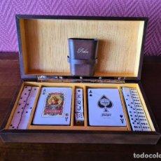 Baralhos de cartas: CAJA DE JUEGO: BARAJAS ESPAÑOLA Y FRANCESA, DADOS, DOMINÓ. FOURNIER. Lote 224757886