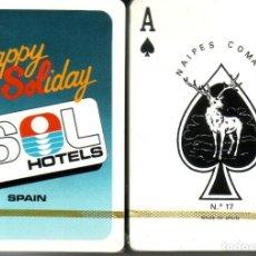 Barajas de cartas: SOL HOTELES - HAPPY SOLYDAY - BARAJA DE POKER. Lote 224771050