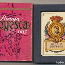 Jeux de cartes: BARAJA GOYESCA 1815. EDICIÓN DE HERACLIO FOURNIER. EN ESTUCHE. Lote 224885643