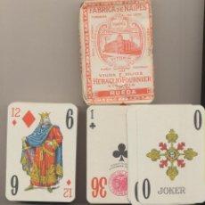 Jeux de cartes: BARAJA DE 75 CARTAS. RUEDA. VIUDA E HIJOS DE HERACLIO FOURNIER. TIMBRE DEL ESTADO 1,50. ENVOLTURA OR. Lote 224885780